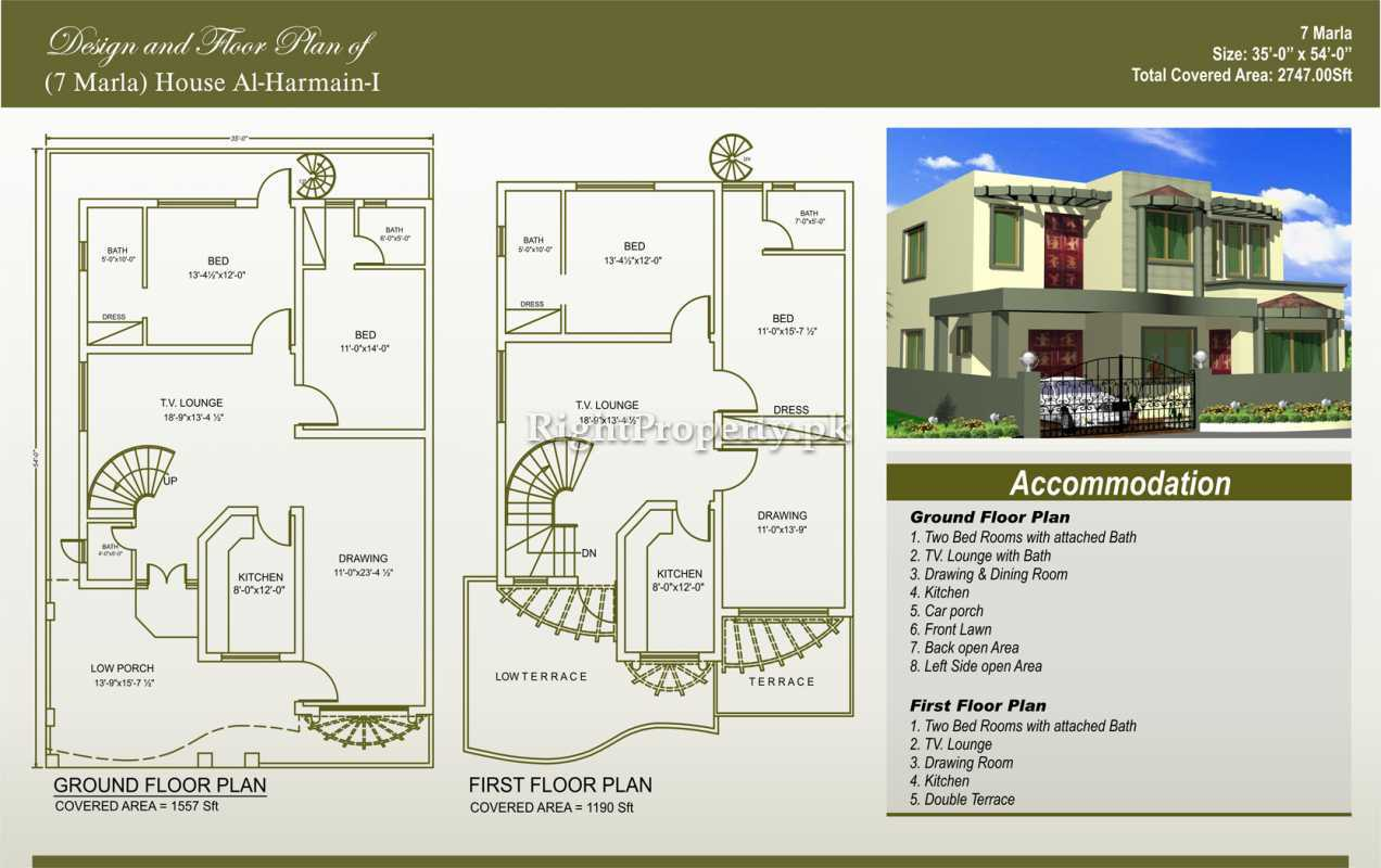 100 home design 7 marla 3d front elevation com 1 for Home designs map
